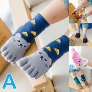 Cute Cartoon Printed Separated Toe Kids Socks 2 pair/set