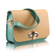 Cute Candy Contrast Color Flap Messenger Shoulder Bag
