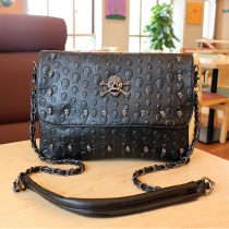 European Punk Style Skull Woven Chain-link Strap Handbag