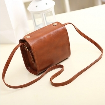 Vintage Solid Color Mini Camera Messenger Shoulder Bag