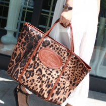 Fashion Retro Simple Leopard Print Handbag