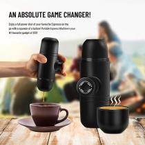 Black Portable Espresso Machine Mini Coffee Maker