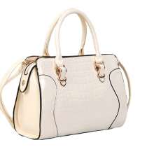 Elegant Fashion Crocodile  Candy Color Handbag