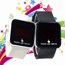Unisex Silicone Watch Band Touch LED Watch