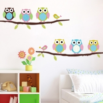 Cute Owl DIY Removable Cartoon Wall Stickers for Kids Room