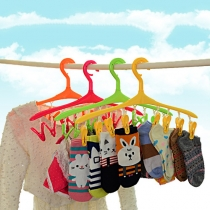 Multi Function Windbreak Plastic Hanger with 8 Clothespins