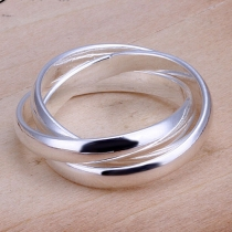 Simple Style Silver Tone Ring
