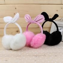 Cute Bowknot Warm Plush earmuffs