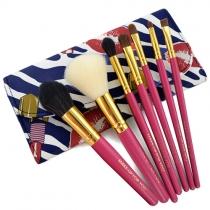 Fashion 7pcs Makeup Comestic Brush Set with Pouch