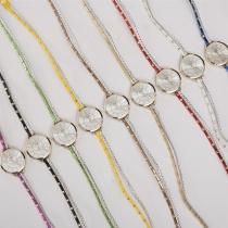 Fashion Style Multi-Layer Braided Band Rhinestone Dial Quartz Watch