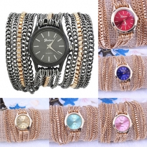 Fashion Ethnic Multilayer Chain Gold-tone Watch