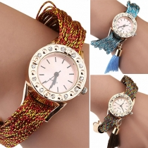 Fashion Creative Colorful Tassel Dial Quartz Watch