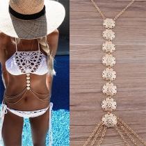 Fashion Ethnic Carving Multifunctional Waist Body Chain