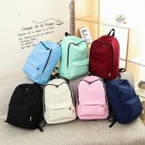 Fashion Solid Color Backpack School Bag