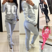 Sweatshirt  + Sweatpants Two-Piece Set