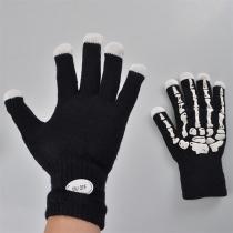 Creative LED Lighting Skull Gloves