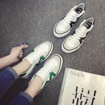 Stylish Lace-up Contrast Color Women's Sneakers