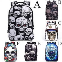 Cool Style Skull Printed Backpack