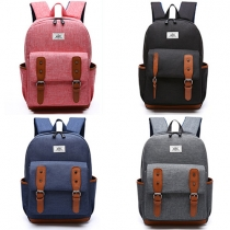 Fashion Style Solid Color Hasp Zipper Backpack