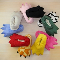 Cute Cartoon Animal Claw Shaped Home Slippers