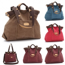 Fashion Retro All-match Canvas Tote Handbag Shoulder Bag