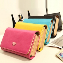 Fashion Solid Color Multifunction Wallet with Hand Strap