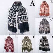 Fashion Striped Printed Scarf
