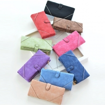 Fashion Solid Color Multifunction Long Wallet Clutch