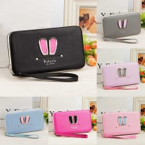 Cute Rabbit Ears Long Wallet with Hand Strap