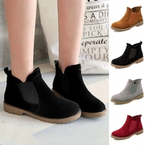 Fashion Flat Heel Round Toe Martin Boots Booties