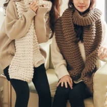 Fashion Solid Color Knit Scarf