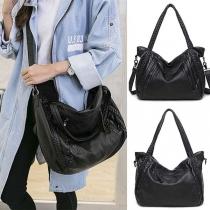 Fashion Solid Color Shouler Bag Handbag