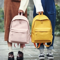 Simple Style Solid Color Backpack