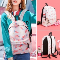 Fashion Carrots Printed Canvas Backpack