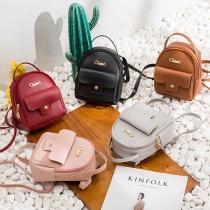 Fashion Solid Color Mini Backpack