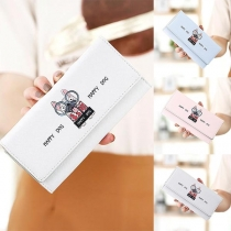 Cute Cartoon Printed Long-style Wallet