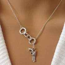 Chic Style Pistol & Handcuffs Pendant Necklace