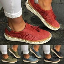 Fashion Flat Heel Round Toe Breathable Casual Shoes