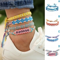 Bohemian Style Colorful Braided Anklet