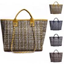 Fashion Mixed Color Bucket Bag Shoulder Messenger Bag