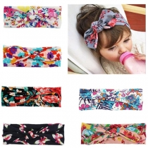 Bohemian Style Printed Bow-knot Head Band for Kids -4 piece/set(color in random)
