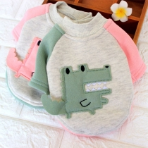 Fashion Contrast Color Round Neck Sweatshirt for Pets
