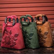 Retro Style Embossing Handbag Messenger Bag