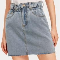 Fashion High Waist Slim Fit Denim Skirt