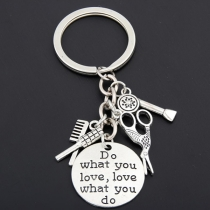 Chic Style Scissors & Blower & Comb Pendant Key Chain