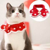 Cute Style Contrast Color Knit Choker Necklace for Pets