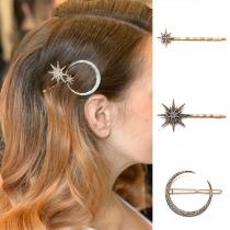 Retro Style Rhinestone Inlaid Hair Pin Set 3 pcs/Set
