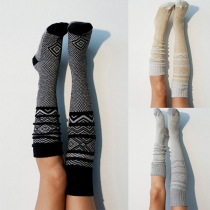 Fashion Printed Over-the-knee Knit Socks