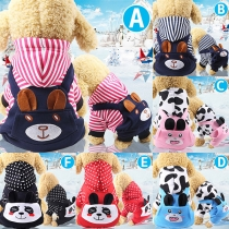 Cute Style Animal Pattern Hooded Pets Clothes