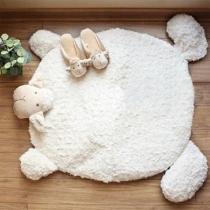 Cute Style Sheep Shaped Plush Mat